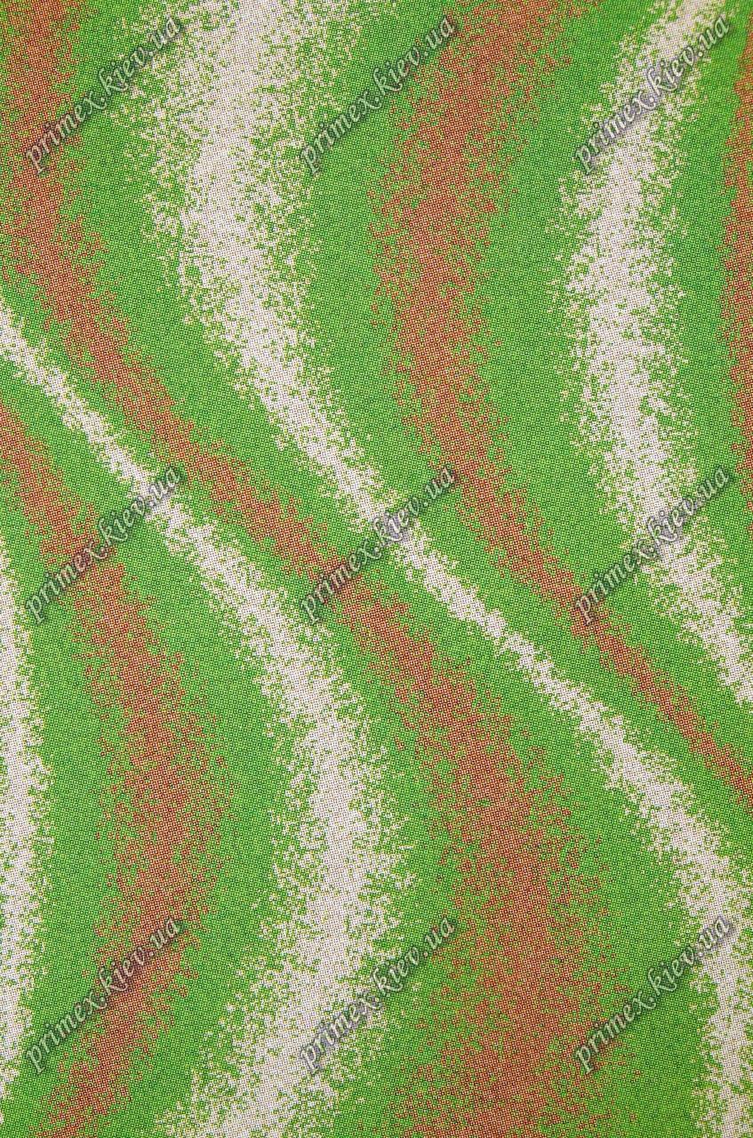 """Высоковрсный килим Шаггі """"Хвиля"""", колір зелений"""
