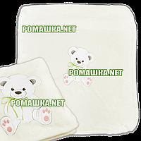 Детский махровый плед одеялко 100х85 см (мягкая, не петельная махра пушистая на ощупь) 3391 Бежевый2
