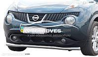 Защита переднего бампера для Nissan Juke 2014-2017