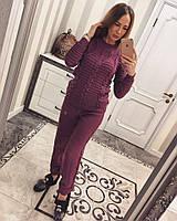 Женский стильный вязаный костюм: свитер и брюки (5 цветов), фото 1