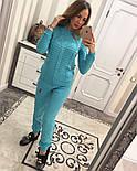 Женский стильный вязаный костюм: свитер и брюки (5 цветов), фото 6