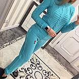 Женский стильный вязаный костюм: свитер и брюки (5 цветов), фото 8