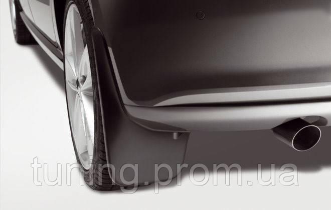 Брызговики Volkswagen Polo 2010+ хетчбек, оригинальные задний 2шт
