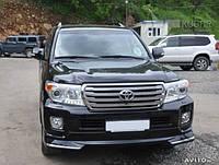 Спойлер переднего бампера Toyota Land Cruiser 200 12+