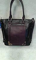 Женская сумка модная черная вместительная (Турция)