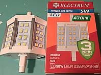 Лампа светодиодная LED линейная в прожектор R7s Electrum LL-24 5W 4000K