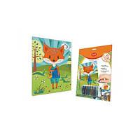 Набор для творчества, картинка с паетками, декорирование лисицы, 61993