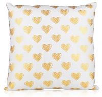 Декоративная подушка «Золотые сердца»