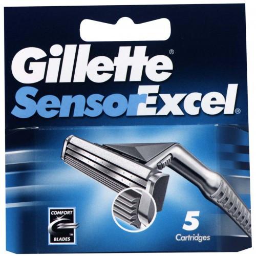 Картриджи Gillette Sensor Excel (пять картриджей в упаковке)