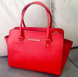Фирменная женская сумка в Майкл Корс красная