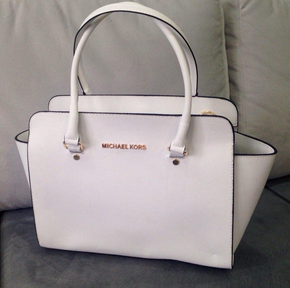 Модная женская сумка в Майкл Корс белая, цена 35  , купить Одеса ... 3873dbb628f