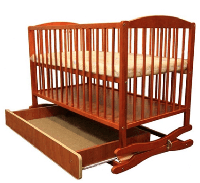 Кроватка-колыбель KLUPS RADEK II с ящиком тик