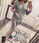 Женский модный вязаный костюм: кофта на молнии и брюки (5 цветов), фото 2