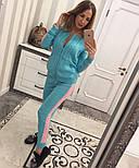 Женский модный вязаный костюм: кофта на молнии и брюки (5 цветов), фото 3