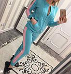 Женский модный вязаный костюм: кофта на молнии и брюки (5 цветов), фото 4