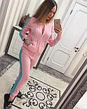 Женский модный вязаный костюм: кофта на молнии и брюки (5 цветов), фото 6