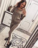 Женский модный вязаный костюм: кофта на молнии и брюки (5 цветов), фото 7