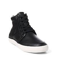 Черные кожаные кеды Polo Ralph Lauren