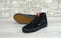 Кеды Vans Old Skool high CANVAS SK8-HI all black (олд скулы ск8, высокие олды) 36