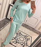 Женский модный костюм косичка с контрастными вставками и молниями (4 цвета), фото 2