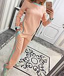 Женский модный костюм косичка с контрастными вставками и молниями (4 цвета), фото 4