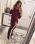 Женский модный костюм косичка с контрастными вставками и молниями (4 цвета), фото 6