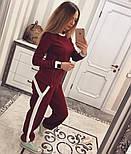 Женский модный костюм косичка с контрастными вставками и молниями (4 цвета), фото 8