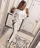 Женский модный костюм косичка с контрастными вставками и молниями (4 цвета), фото 10