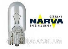 "Лампа автомобильная 12V W5W цоколь -W2,1x9,5D    ""NARVA"""