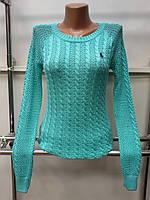 Женская стильная кофта (реплика) Polo ralph lauren зеленого цвета