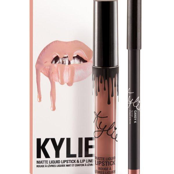 Матовая помада Kylie с карандашом - Candy К