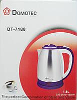 Электрочайник  Domotec DT-7188 Нержавейка