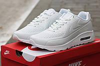 Мужские кроссовки Nike Air Max 90 Ultra Moire , белые, пресс кожа / кроссовки мужские Найк Аир Макс Ультра Муа
