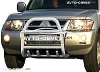 Защитная дуга переднего бампера Mitsubishi Pajero Wagon III (п.к. RR04)