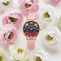 Женские часы Flowers с цветочным принтом