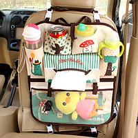 Органайзер в автомобиль детский Бежевый в горошек (04010)