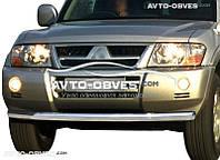 Кенгурятник одинарный ус для Mitsubishi Pajero Wagon (п.к. V001)