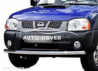 Защита переднего бампера Nissan NP300 одинарный ус от ИМ Автообвес (п.к. V001)