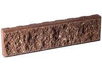 Цокольная плитка «Литос» (кирпич тонкий) колотая с фаской,  ШОКОЛАД