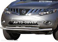 Защита переднего бампера для Nissan Murano 2009-2014 двойной ус от ИМ Автообвес  (п.к. ТТК)
