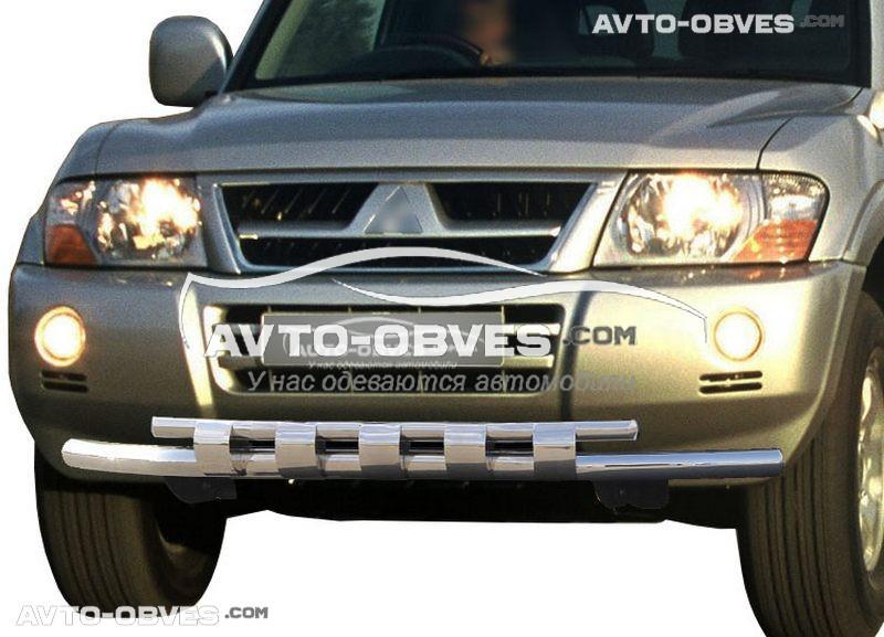 Двойной ус грилем для Mitsubishi Pajero Wagon III