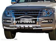 Защита переднего бампера модельная для Mitsubishi Pajero Wagon IV