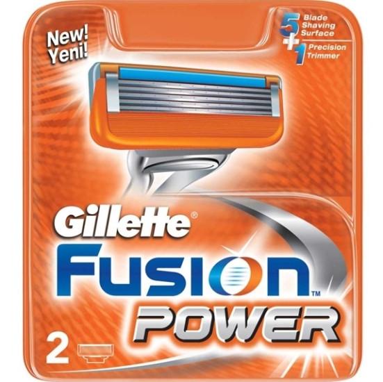 Картриджи Gillette Fusion Power 2's ( два картриджа в упаковке )