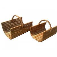 Набор плетеных корзин для камина