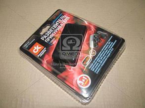 Разветвитель прикуривателя, 3в1, USB,1000mA, удлинитель, LED индикатор, Дорожная Карта WF-024