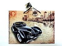 Пакет подарочный 35х26х11см Большой горизонтальный Машина ретро