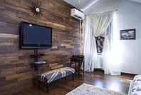 Отделка, декорирование стен деревянными панелями