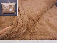 Покрывало меховое длинный ворс Карамель