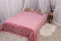 Покрывало меховое длинный ворс Розовое