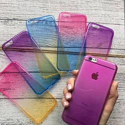 Силиконовый чехол омбре на iPhone 6/6s